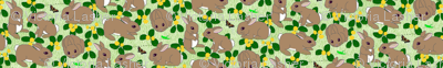 Bunnies au naturel - green (click on the FQ view if the picture doesn't load properly)