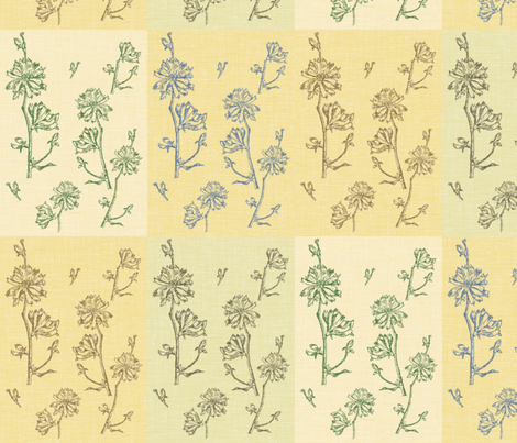Chicory Field fabric by retrofiedshop on Spoonflower - custom fabric