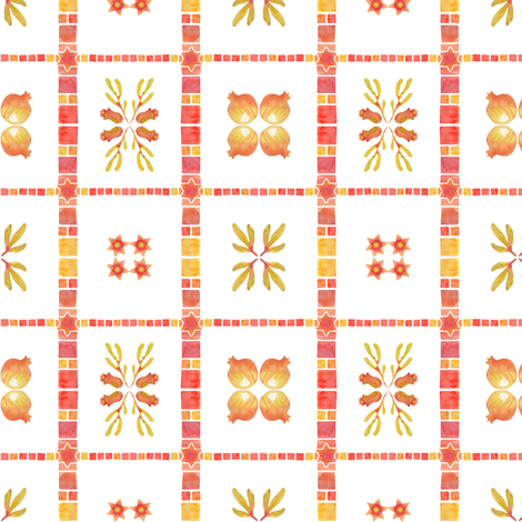 Granada_Tile fabric by bee&lotus on Spoonflower - custom fabric
