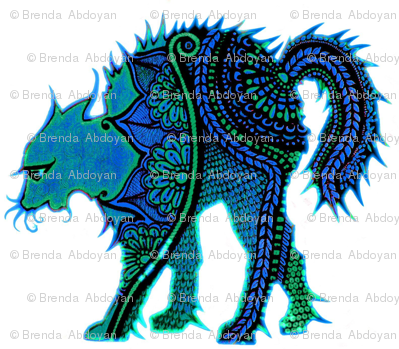 Regal Feline in Blue