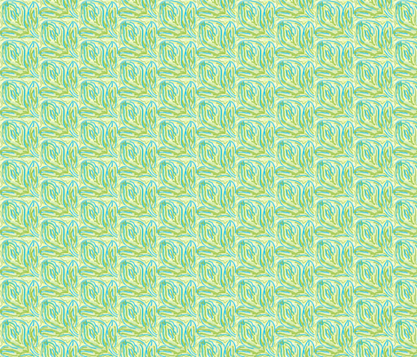 greenblueyellowflower fabric by sewbiznes on Spoonflower - custom fabric