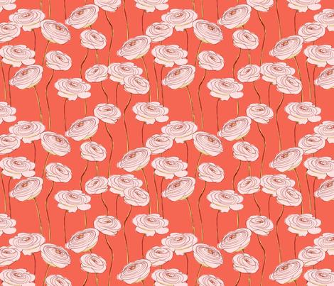 ranunculus fabric by juliannlaw on Spoonflower - custom fabric