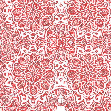 moorish_crimson fabric by bee&lotus on Spoonflower - custom fabric
