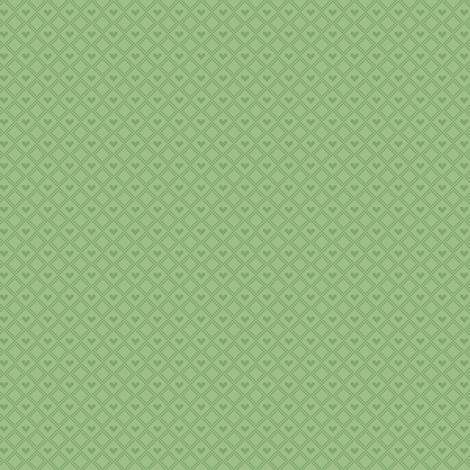 Green hearts fabric by iamnotadoll on Spoonflower - custom fabric