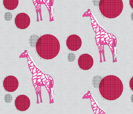 Giraffes In Pink fabric by ashleycooperdesign on Spoonflower - custom fabric