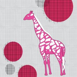 Giraffes In Pink