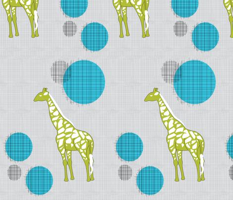 Giraffes in Green & Blue fabric by ashleycooperdesign on Spoonflower - custom fabric