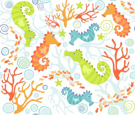 Seahorses fabric by bethany@bzbdesigner_com on Spoonflower - custom fabric