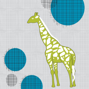 Giraffes in Green & Teal