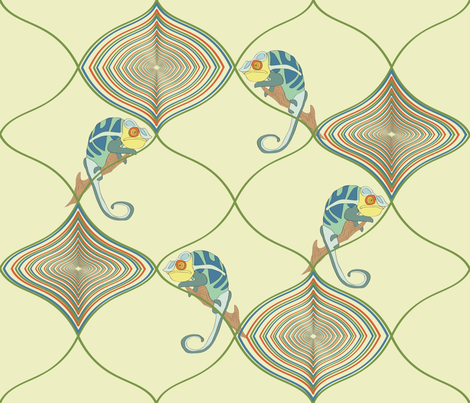 chameleon fabric by tamnoona on Spoonflower - custom fabric
