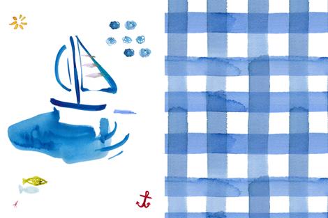 cestlaviv_sailboat_sky_cheater fabric by cest_la_viv on Spoonflower - custom fabric