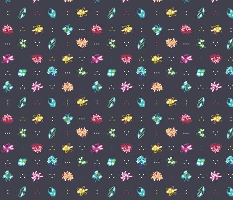 Flower dots fabric by chottotegre on Spoonflower - custom fabric