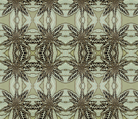 BAUER - Backyard Green Weed fabric by scatteredseeds on Spoonflower - custom fabric