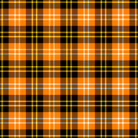 tartan : halloween fabric by sef on Spoonflower - custom fabric