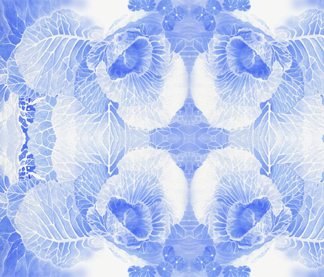BAUER - Blue Cabbage fabric by scatteredseeds on Spoonflower - custom fabric