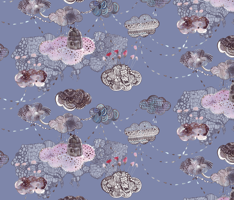 clouds fabric by katarina on Spoonflower - custom fabric