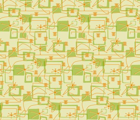 Retro Avocado & Orange fabric by exstock on Spoonflower - custom fabric