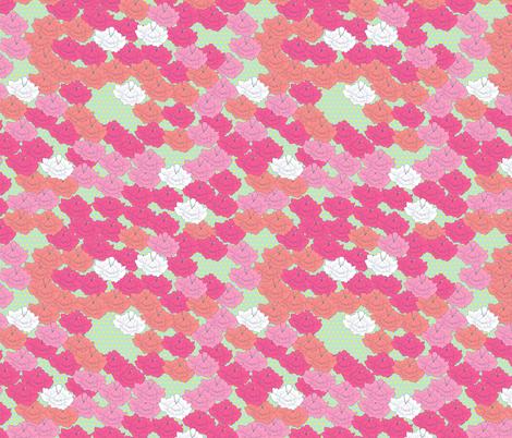 Spring Stitch Flowers fabric by candyjoyce on Spoonflower - custom fabric