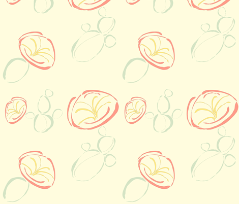 Cactus Flower (Large Repeat) fabric by anna_gregory on Spoonflower - custom fabric