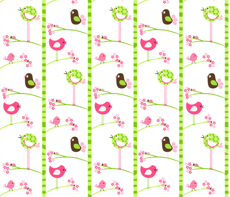 Birds and Ladybugs fabric by natitys on Spoonflower - custom fabric