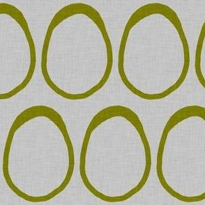 Egg - olive green