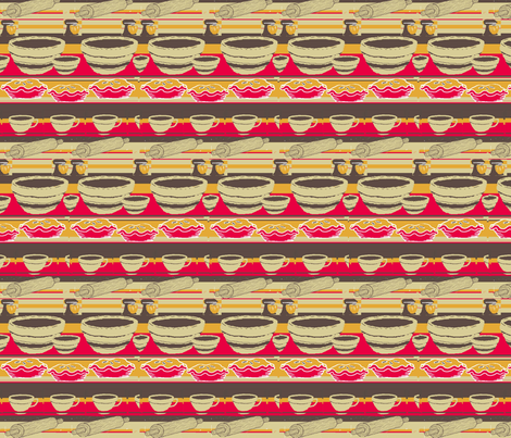 pie and coffee kitchen fabric by sweetfe on Spoonflower - custom fabric