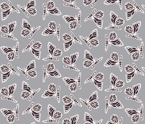 butterflies fabric by katarina on Spoonflower - custom fabric