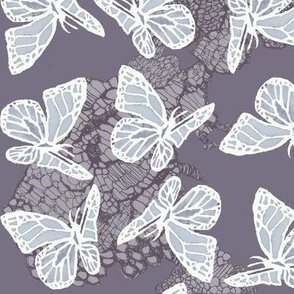 butterflies on lace