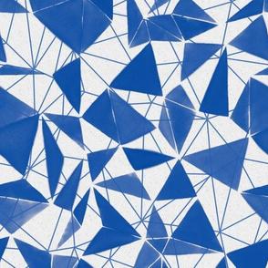 triangle FACETS - cobalt blue
