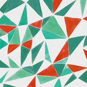 triangle FACETS - orange & veronese green