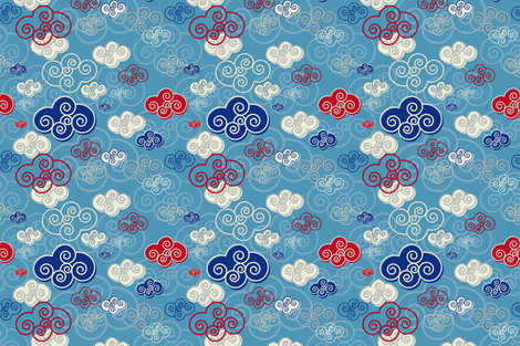 Clouds fabric by cassiopee on Spoonflower - custom fabric