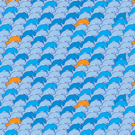 Tessellating whales fabric by ebygomm on Spoonflower - custom fabric