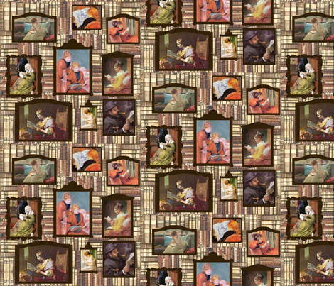 The Art of Reading fabric by mammajamma on Spoonflower - custom fabric