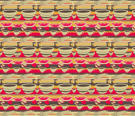 apple pie and coffee fabric by sweetfe on Spoonflower - custom fabric