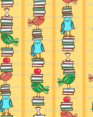 Book Birds Stripe