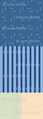 Blue Greyhound Gift Wrap Sampler ©2013 by Jane Walker