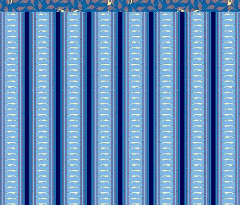 Blue Greyhound Gift Wrap Sampler ©2013 by Jane Walker fabric by artbyjanewalker on Spoonflower - custom fabric
