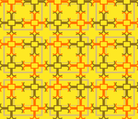 crux happy yellow fabric by goldentangerinedesigns on Spoonflower - custom fabric