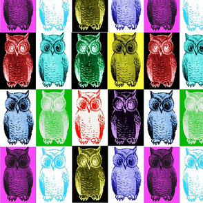 Mod Little Owls Color Grid