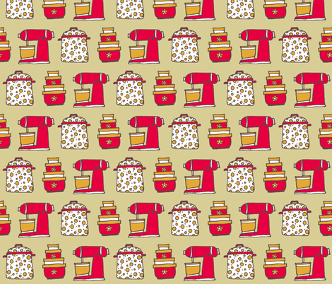 kitchen basics contest med fabric by susan_swedien on Spoonflower - custom fabric