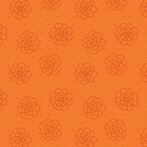 Rosettes and Polka Dots - Orange