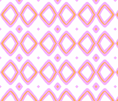 Diamonds! (tangerine & blush) fabric by pattyryboltdesigns on Spoonflower - custom fabric