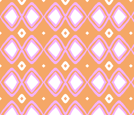 Diamonds!! (deep blush, tangerine & white) fabric by pattyryboltdesigns on Spoonflower - custom fabric