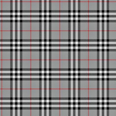 Grey, red & black plaid fabric - sewmommy - Spoonflower