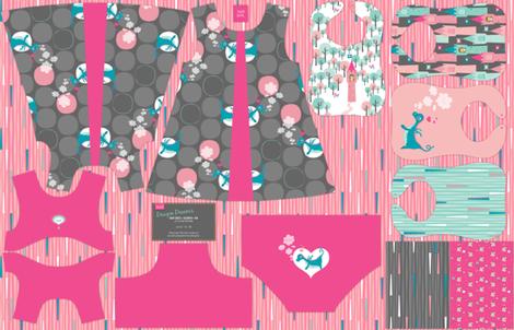 Dragon Dreams Dress + Bloomer + Bib Cut & Sew fabric by zesti on Spoonflower - custom fabric