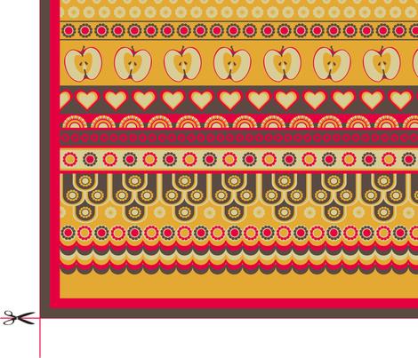 Retro-Kitchen Tea Towel fabric by ★lucy★santana★ on Spoonflower - custom fabric