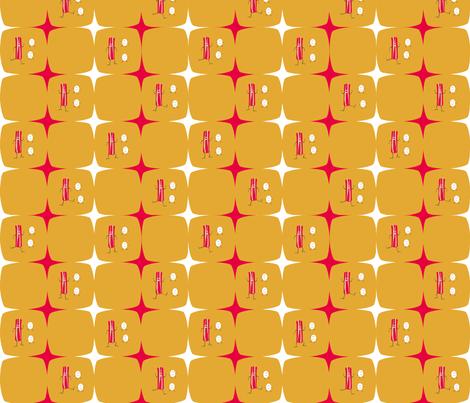 Dancing Bacon & Eggs 2 fabric by sage_quinn on Spoonflower - custom fabric