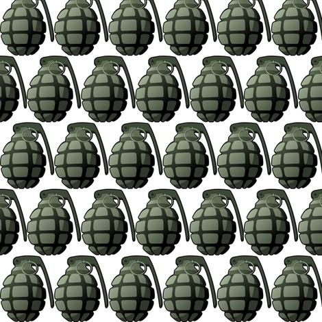 grenade fabric by weebeastiecreations on Spoonflower - custom fabric