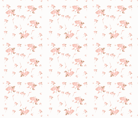Shabby Chic Roses in a Pink Garden-ch fabric by karenharveycox on Spoonflower - custom fabric