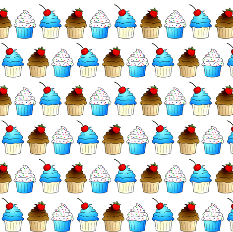 Cupcakes! fabric by jsdesigns on Spoonflower - custom fabric